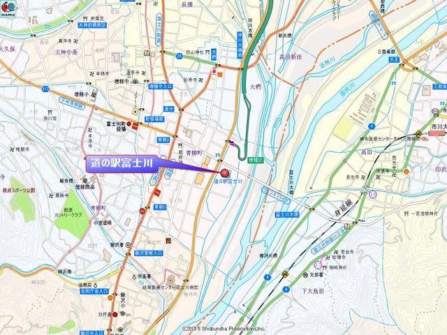 道の駅富士川の地図