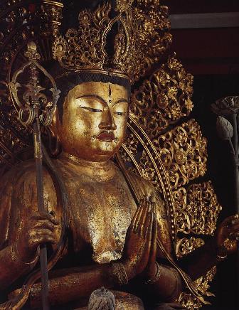 興福寺 南円堂 「不空羂索観音像」 国宝 像高さ311cmの木像 鎌倉時... 奈良の仏像 興福