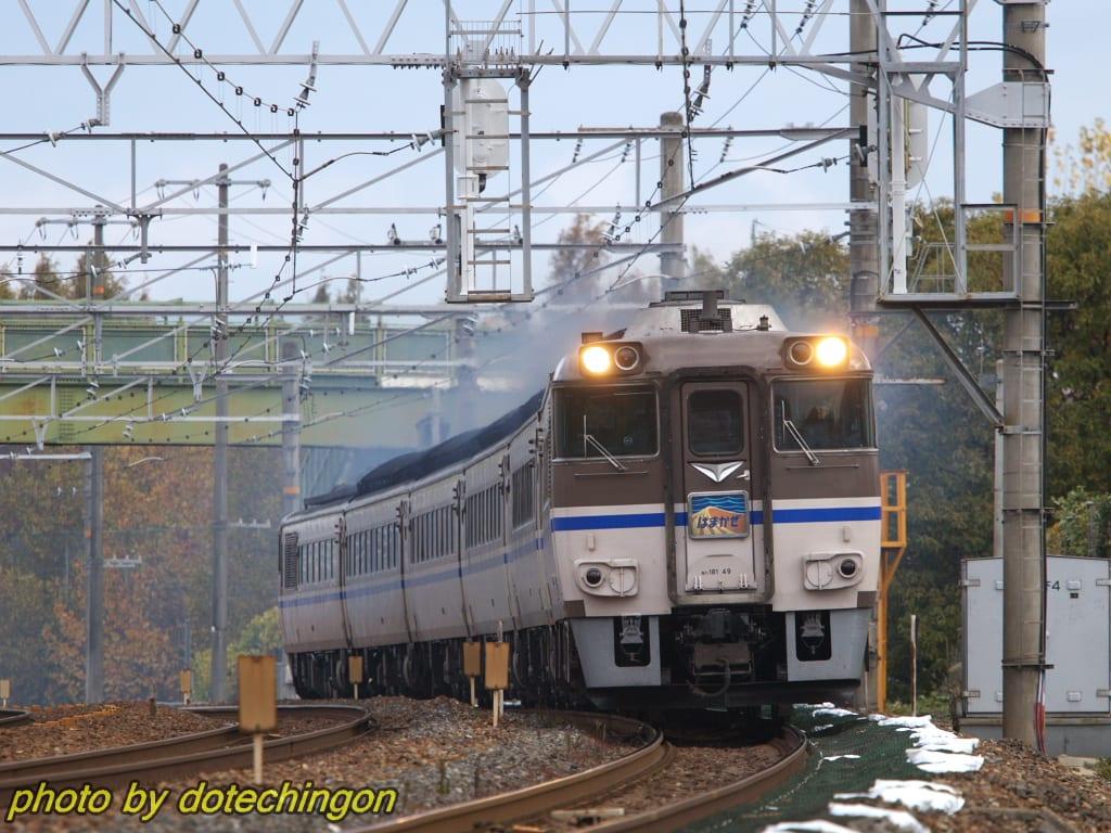 にほんブログ村 鉄道ブログへ  特急はまかぜ回送 キハ181系  [CANON EOS 5Dma