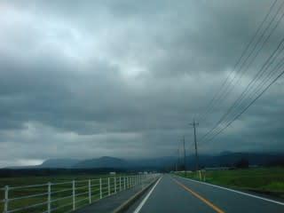 麓から上に向かうにつれ天気が悪く・・・