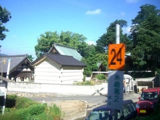 糸崎第2踏切辺りの景色