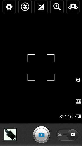 Optimus LTEの撮影画面