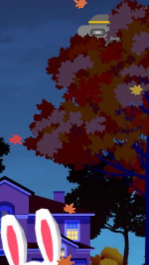 UFOの動きが変化。木の陰に隠れたりもする