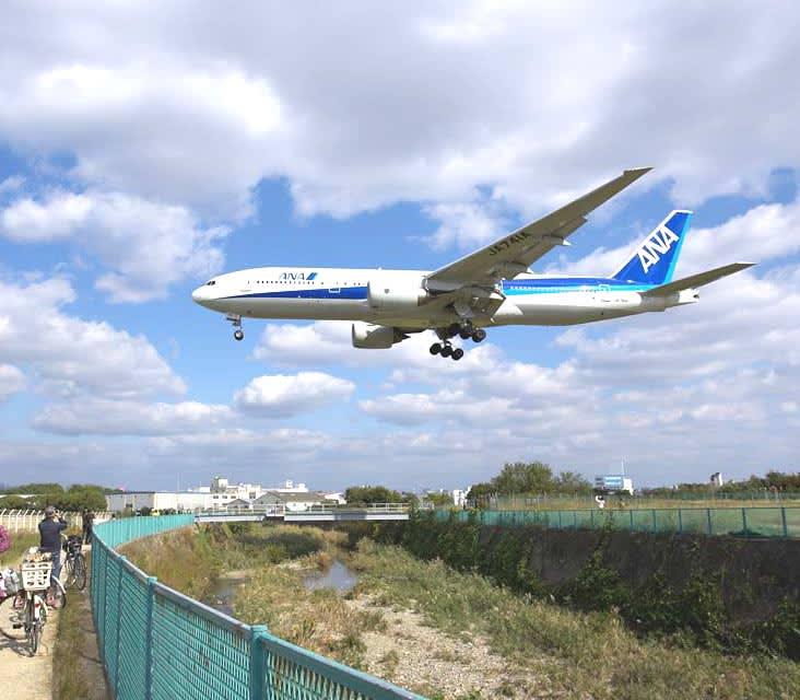 千里川河川敷でピクニック+巨大飛行機! 今日は、ちょっと変わった雰囲気で... 千里川河川敷でピ