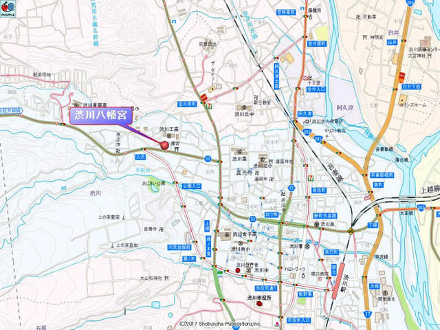 渋川八幡宮の地図