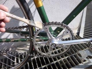 ちょっと自転車を 洗って ...