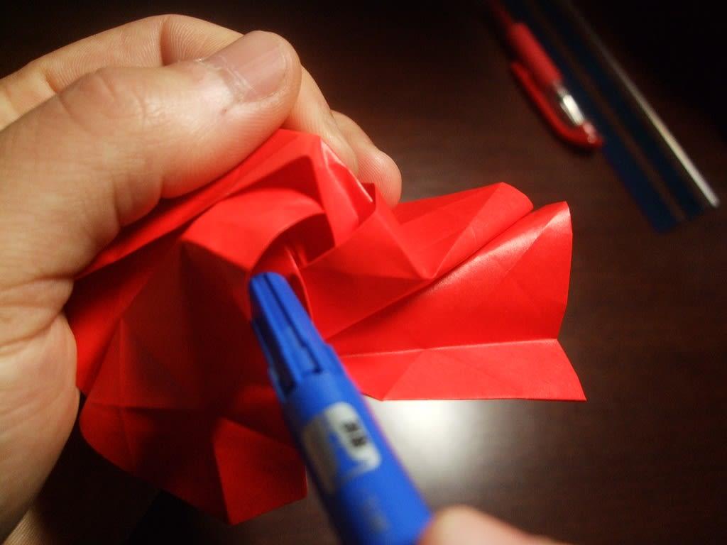 すべての折り紙 折り紙川崎ローズ折り方 : 折りバラ「川崎ローズ」 難所 ...