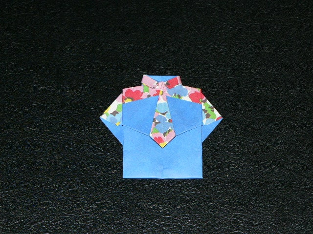 ハート 折り紙 折り紙シャツ折り方 : blog.goo.ne.jp