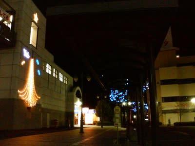 午後7時台の市の中心部(北関東)
