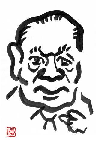 岡本太郎の似顔絵