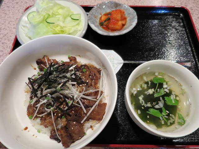 カルビ丼定食