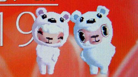 2012年3月iモード版マチキャラでのクマのお着替え