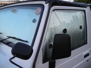 JA12ジムニーの車中泊用シェード製作