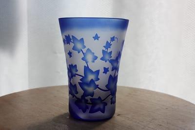 アイビーのグラス(ブルー)