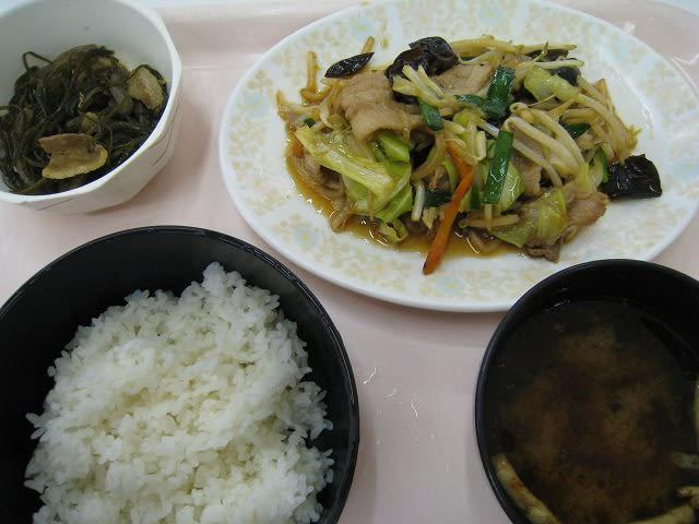 日替わり定食(肉野菜炒め)