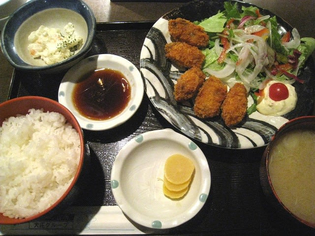 日替わり(カキフライ)定食