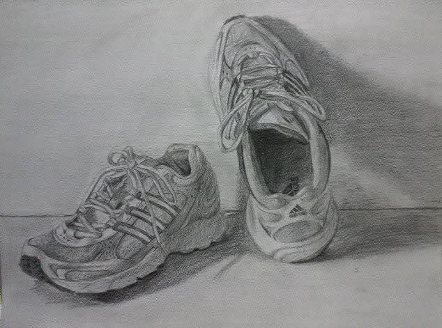 石垣島のNくんが、靴のデッサンをしてくれました。