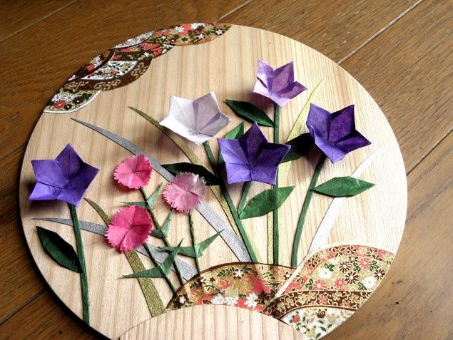 すべての折り紙 菊 折り紙 折り方 : 月の折り紙教室でつくった ...