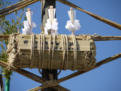 安曇野市穂高柏原倉平の御柱