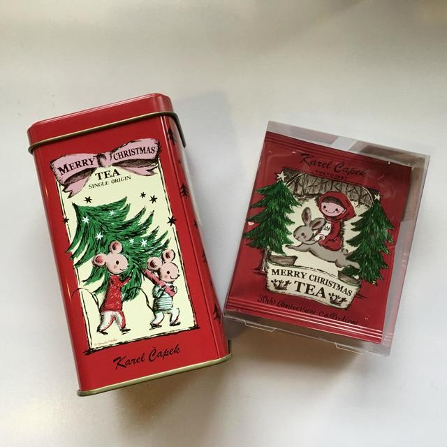 右・メリークリスマスティー カップ用ティーバッグ5p