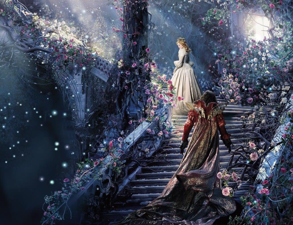 バラの階段に素敵すぎる世界