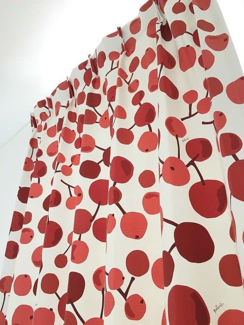プルーン赤いカーテン