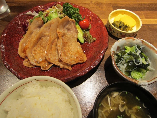 みやざき豚の生姜焼き定食