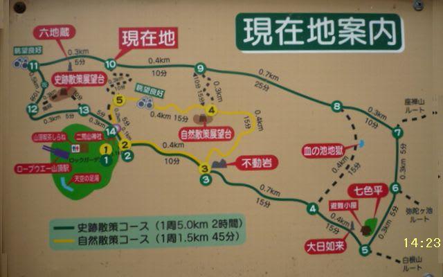散策コース案内図