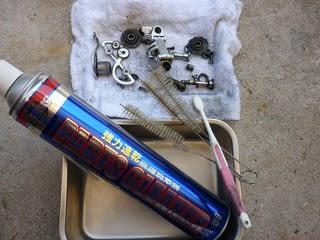 自転車の 自転車 洗浄 : リア・ディレーラー 洗浄 ...