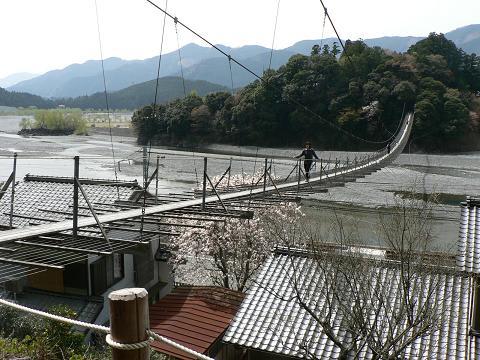 塩郷の大吊橋