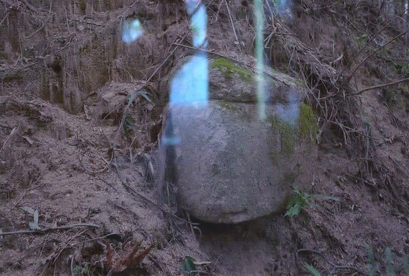 弥宮池西1号墳露出石棺