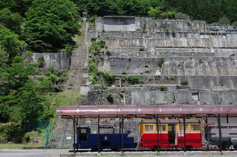 神子畑選鉱場跡・一円電車