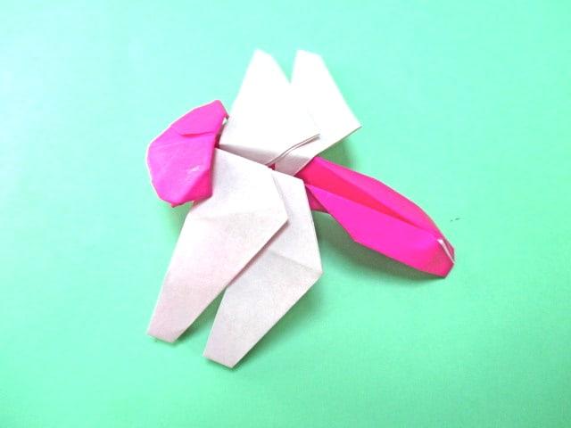 ハート 折り紙:折り紙トンボの作り方-blog.goo.ne.jp