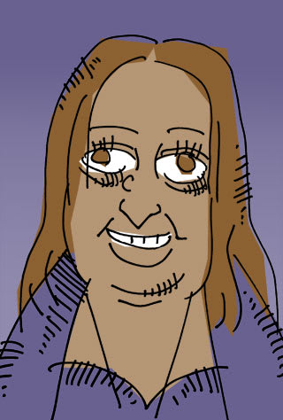 ザハ・ハディドの似顔絵