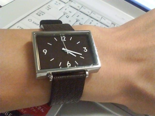 気になっていた無印良品の腕時計を購入。