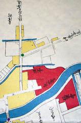 元和~元禄時代の福山城下絵図より吉津の道標辺りを拡大