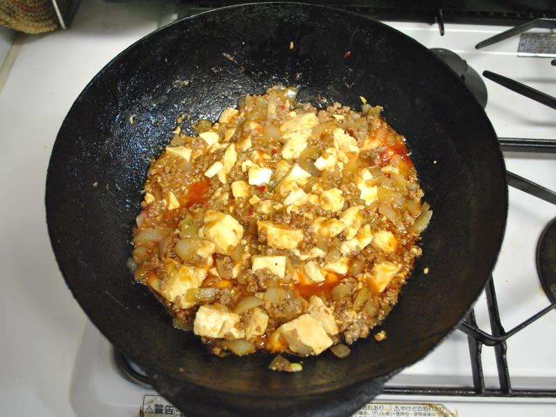 麻婆豆腐 作成中