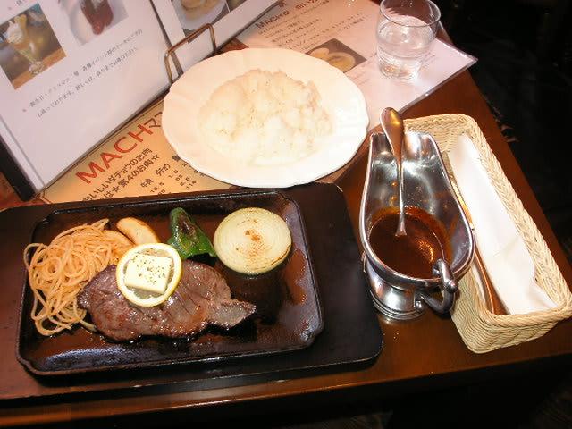 マッハⅢダチョウステーキ¥1500+ライス¥200