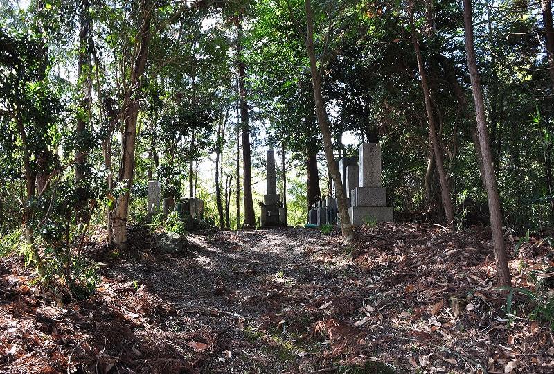 墳丘上の墓地