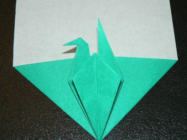 すべての折り紙 三角形 折り紙 : 折り紙 ~鶴つきしおり&ポチ ...
