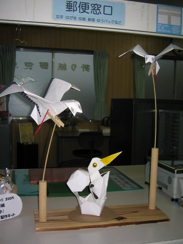 折り紙でコウノトリ