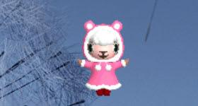 ピンクのコートのメイドのメイちゃん