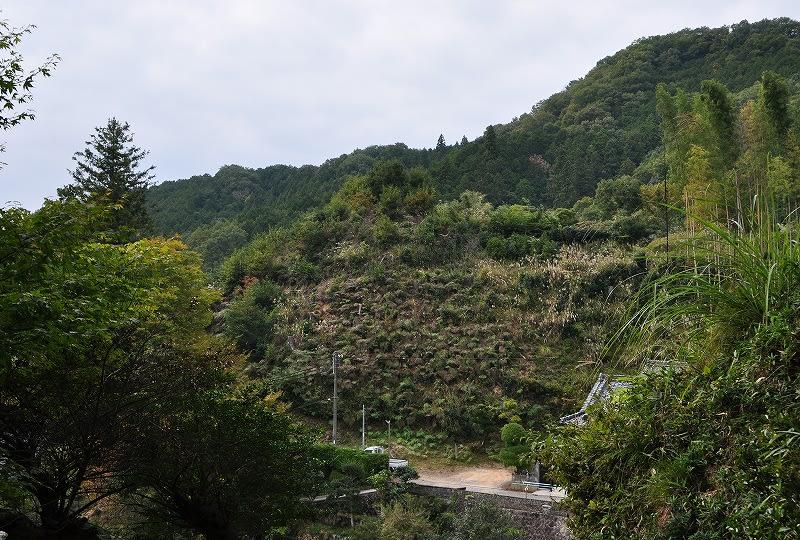 下芳野丸山1号墳遠景