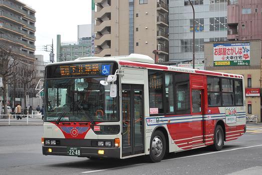 関東バスに新型ノンステ & 前面...