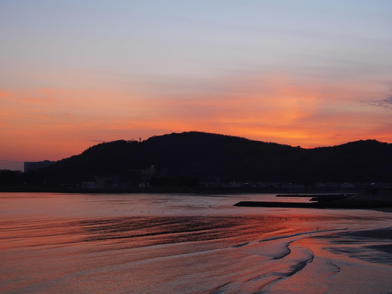 夕景 ~近所の海辺にて~の画像