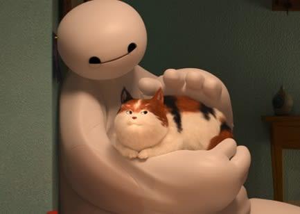 猫とベイマックス