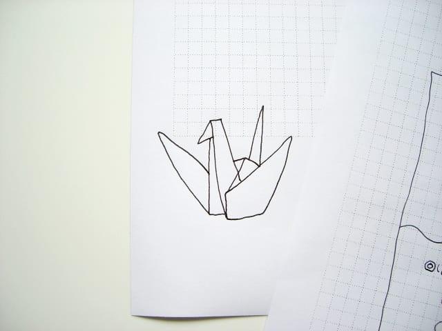 すべての折り紙 折り紙 ハート 鶴 : 鶴の折り紙。 - キャノンボール ...