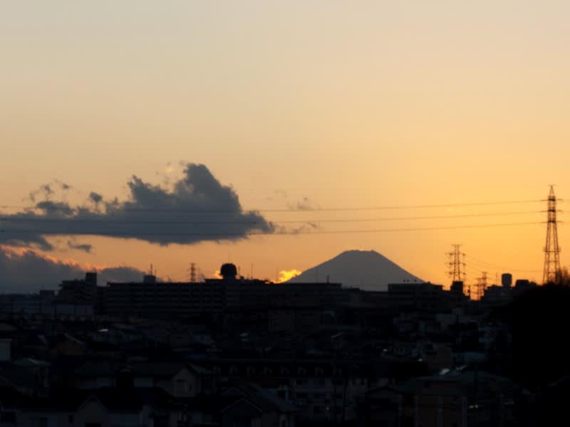 12月26日 富士山の夕陽