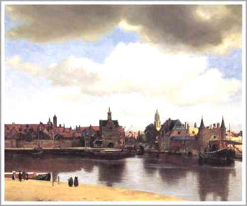 フェルメール(オランダ「デルフトの町」)