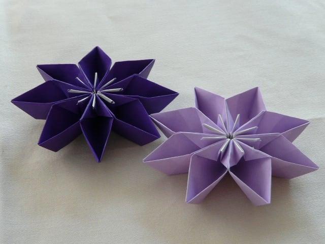 すべての折り紙 星の作り方 折り紙 : クラフト - えつこのマンマダイ ...